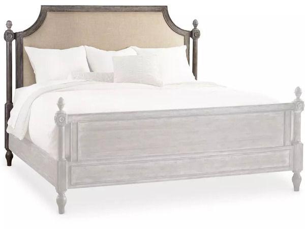 Upholstered headboard bed - Hooker Furniture